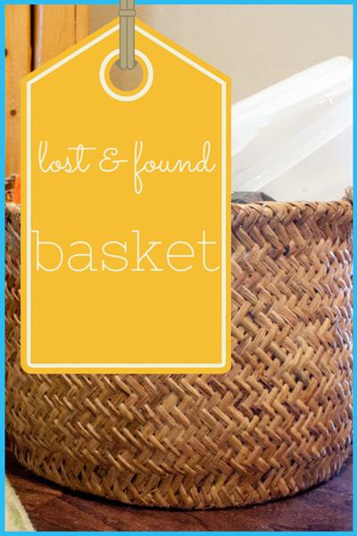 Lost & Found basket